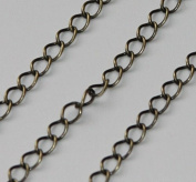 3m of Antique Brass Soldered Curb Chain 3.2mm