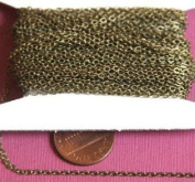 30m spool of Antique Brass Tiny Flat Soldered Cable Chain 2mm