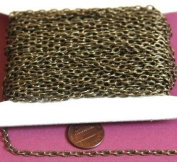 50m of Antique Brass finished texture cable chain 3X5mm- unsoldered