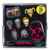 SDCC 2016 Exclusive Suicide Squad 6 Piece Lapel Pin Set Limited to 1000 Worldwide!