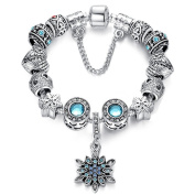 Charm Central Frozen Snowflake DIY Charm Bracelet Kit - Make Your Own Charm Bracelet for Girls