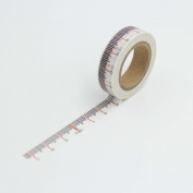 White Ruler Washi Paper Masking Tape Scrapbooking Tapes Gift Wrapping Sticker DIY Stickers Decals