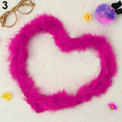 Gilroy 2m Marabou Feather Boa For Costume Dress Party Wedding Decoration Xmas Gift - Rose-Red