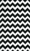 Venus Ribbon V81613 7.6cm Colligiate Chevron Printed Polyester Grosgrain Ribbon 5 yards White/Black