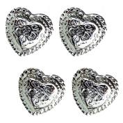 Set of 10 Western Engraved 1.3cm Heart Conchos Saddle tack belt