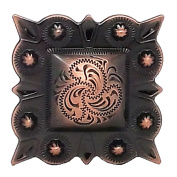 "Berry Square Concho 1.5"" (3.8 cm) Screwback Copper 2323-10"