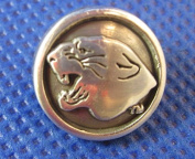 (5 pieces) Panthers Logo Antique Silver 10mm Concho NEW Enmon