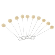 Pack of 10 Wool Daubers with Metal Handle for Leather Dyes, Sealers