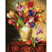 Dimensions Counted Cross Stitch Kit Parrot Tulips