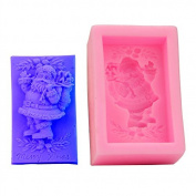 Mr.S Shop 3D Santa Claus Silicone Moulds Sugar Jelly Fondant Ice Soap Mould Kitchen Baking Tools