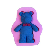 Mr.S Shop 3D Cartoon Bear Silicone Mould Fondant Soap Mould Cake Decorating Tools ,Small Size
