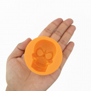 X-Haibei Halloween Skull Ice Cube Chocolate Crayons Soap Bath Bomb Silicone Mould Supplies