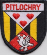 Pitlochry Perth and Kinross Flag Embroidered Badge