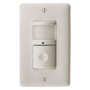 Hubbell ATP2000LA Adaptive Technology, Passive Infrared Wall Switch, 110sqm Coverage, Light Almond