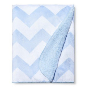 Soft Fleece Embossed Baby Blanket Chevron