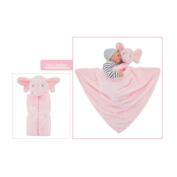 GudeHome Baby Girls Blanket Swaddling Infant Sleeping Bag Bathrobe Towel With Cute Animal Head 76x76cm