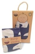 Zebi Baby Organic Cotton Swaddle Blanket & Burp Cloth Set - Navy Polar Bear