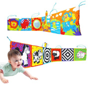 Infant Kid Baby Crib Gallery High-Contrast Development Puzzle Zoo Cloth Book Toy