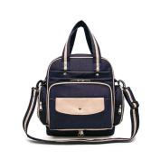 YuHan Baby Nappy Backpack Waterproof Nylon Nappy Bag Shoulder Bag Handbag DarkBlue
