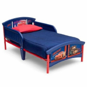 Disney Cars Plastic Toddler Bed | Features Two Attached Guardrails - Sturdy Steel Frame