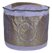 Decorative Mandala Design Silk Ottoman Cover 17 X 43cm X 30cm