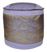 Ethnic Silk Ottoman Cover 17 X 43cm X 30cm