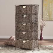 Nancy Seagrass 5-Drawer Storage