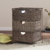 Nancy Seagrass 3-Drawer Storage