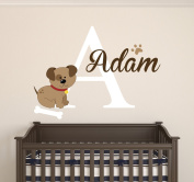 Custom Puppy Name Wall Decal Room Decor Nursery Wall Decal Vinyl Sticker