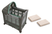 Travel Lite Pack N Play Playard with Stages, Manor + Sheets