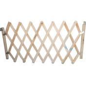 YK Decorative Wood Dog Gate Pet Door Expanding Gate, Easy Swing and Lock Wood Gate