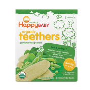 Happy Baby Organic Teethers Pea & Spincah Teething Wafers