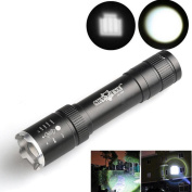 . Tactical Flashlight,Canserin Powerful 2500 Lumens Zoomable CREE XML T6 LED 18650 Torch Lamp
