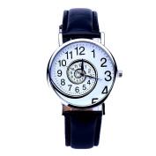 ABC® Women Swirl Pattern Leather Analogue Quartz Wrist Watch