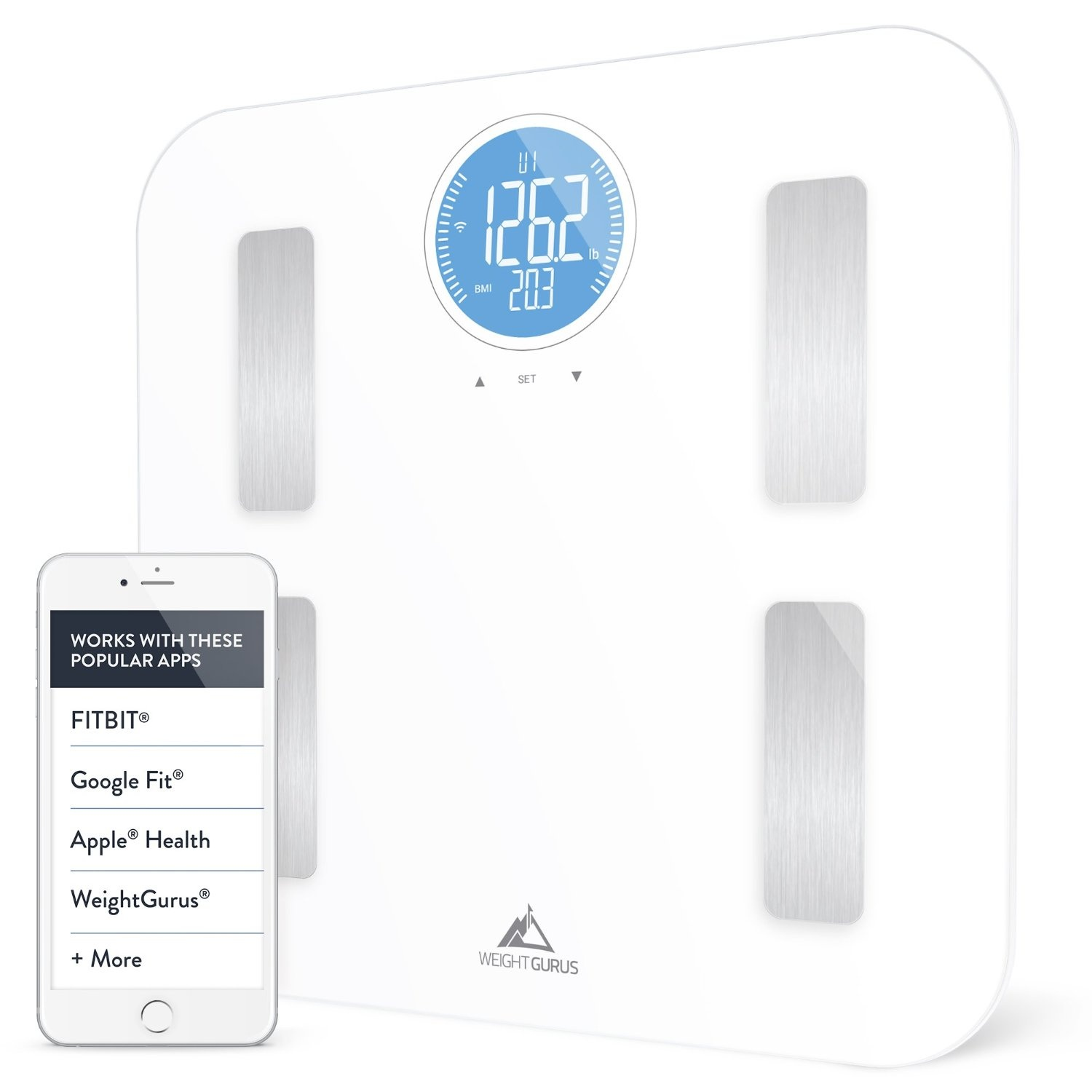 Designer Glass Body Composition White Bathroom Scale from ...