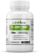 St. John's Wort - 500mg - Natural Supplement for Mood Support, Stress and Anxiety - Standardised to 0.3% Hypericin - 100 Capsules