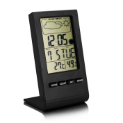 Bengoo Indoor Humidity Monitor Hygrometer Home Weather Station with Lcd Display/Screen Alarm Clock Function