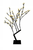 Queens of Christmas CH-96OR-30B 80cm . Tall Orange Cherry Tree with 96 LEDs