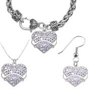 Firefighter's Girlfriend Necklace, Earring,and Bracelet Set,Hypoallergenic Safe-Nickel, Lead, Cadmium Free