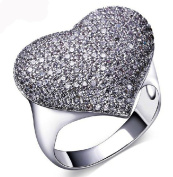 Alimab Jewelery Rings Gold Plated Womens Promise Rings Heart