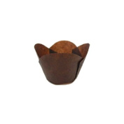 Brown Tulip Baking Cup Round Tip, 5.1cm Bottom, 3.2cm - 5.1cm Side Wall, Case of 2700