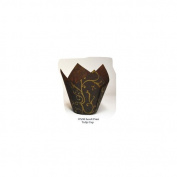 Novacart Brown Scroll Tulip Baking Cup