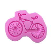 YIJIA Bicycle Shape 3D Silicone Fondant Cake Mould Chocolate Mould Bakeware Cake Decorating Tools pack of 2