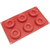 Windspeed 6-Cavity Savarin Silicone Mould for Donut/Cake/Bread/Cupcake/Cornbread Muffin Cups Donut Pan