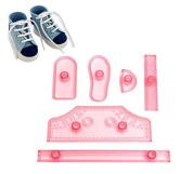 Windspeed 6pcs/set Sneaker Soccer Shoes Baking Cake/Candy/Sugar/Fondant Mould Kids' Birthday Cake Decoration Supply
