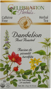 Celebration Herbals Organic Dandelion Root Roasted Tea Caffeine Free -- 24 Herbal Tea Bags