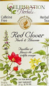 Celebration Herbals Organic Red Clover Herb and Flower Tea Caffeine Free -- 24 Herbal Tea Bags