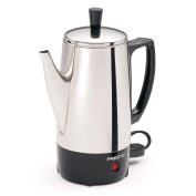 Presto Stainless Steel 6-cup Percolator, Enjoy the rich, aromatic experience of a freshly brewed cup of coffee in minute.