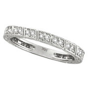 Diamond Stackable Anniversary Band in 14k White Gold