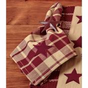 Burgundy Farmhouse Star Napkin - Set of 4